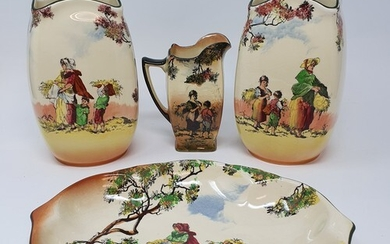 A pair of Royal Doulton Series ware vases, and various other...