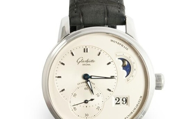 A stainless steel wristwatch, PanoMaticLunar