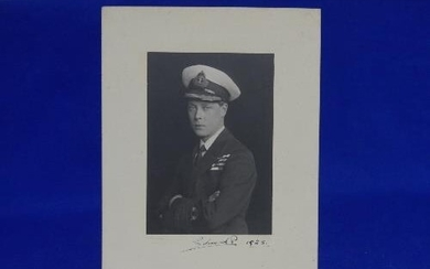 An Edward VIII signed Photograph, in Naval uniform, signed i...