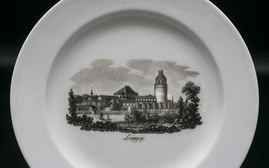 Ansichtenteller 'Leipzig' / A plate with a view of Leipzig,...