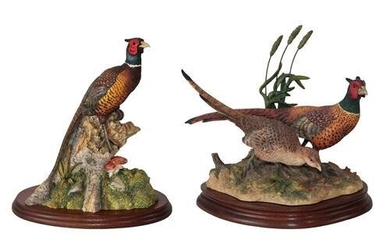 Border Fine Arts Pheasant Figures comprising; 'Stepping Out' (Pheasants), model...