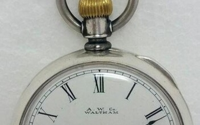 Coin Silver AMERICAN WALTHAM Pocket watch c.1885 size