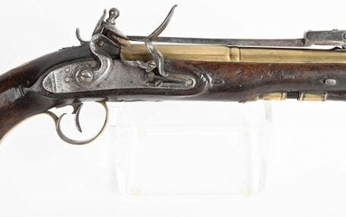 ENGLISH BAYONETED FLINTLOCK BLUNDERBUSS PISTOL