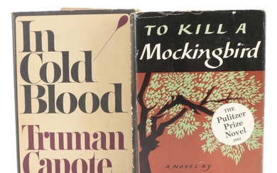 """Early Printings """"In Cold Blood"""" and """"To Kill a Mockingbird,"""" Mid-20th Century"""
