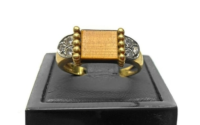Gold ring and stones
