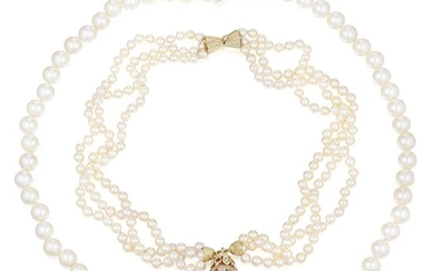 Group of Cultured Pearl Necklaces