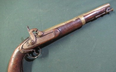 Indian style made up percussion cap pocket pistol with Late ...