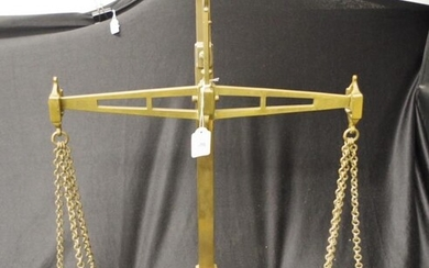 Large pair of Victorian bronze/brass bank scales 'Patent Agate...