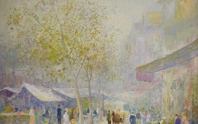 Late 19th/early 20th century school Oil on canvas Market s...