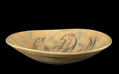 Laurie Rolland Birds Studio Pottery Bowl