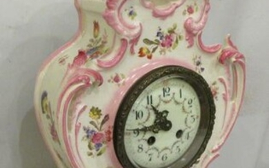 Nicely floral decorated French china case vintage
