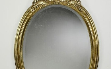 Rococo Revival style giltwood mirror, early 20th c.