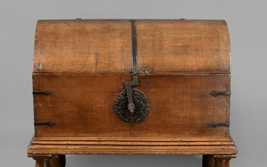 Spanish Colonial, Mexico, Carved Cedar Chest, 18th
