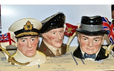 THREE ROYAL DOULTON LIMITED EDITION CHARACTER JUGS, FROM THE...