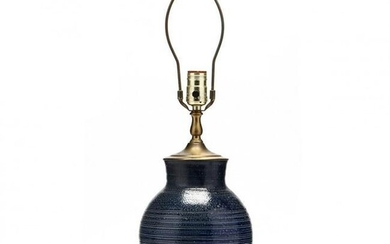 Turned Vase Presented as Lamp, Attributed J. B. Cole