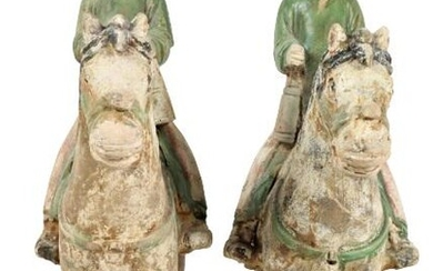 (2) Chinese Early Ming Dynasty Tomb Figures