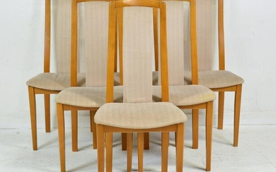 6 High Back Mid Century Modern Dining Chairs