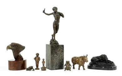 A Collection of Bronze and Metal Figures.