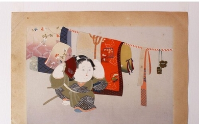 A EARLY 20TH CENTURY JAPANESE WOODBLOCK PRINT - JAPANESE FES...