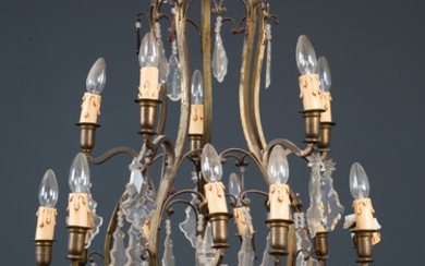 A French gilt metal chandelier