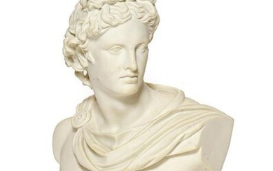 A Parian Art Union Bust of the Apollo Belvedere, 1861...