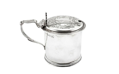 A Victorian sterling silver mustard pot, London 1865 by