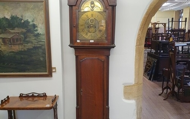 A longcase clock, the 30.5 cm arched square dial signed Harr...