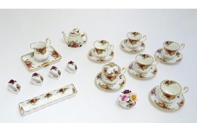 A quantity of Royal Albert wares in the pattern Old Country ...