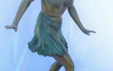 Art Deco Figurine of a Flapper dancer ,style of