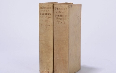 Astronomy BAYLE (Pierre) Various thoughts written to a Doctor of...