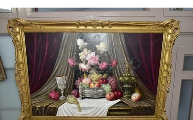BELA BALOGH (HUNGARIAN 1909-1980), still life with apples, g...