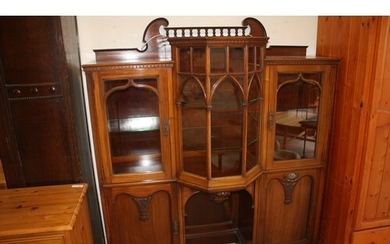 Bespoke Late Victorian Gothic Style Display Cabinet by Chris...