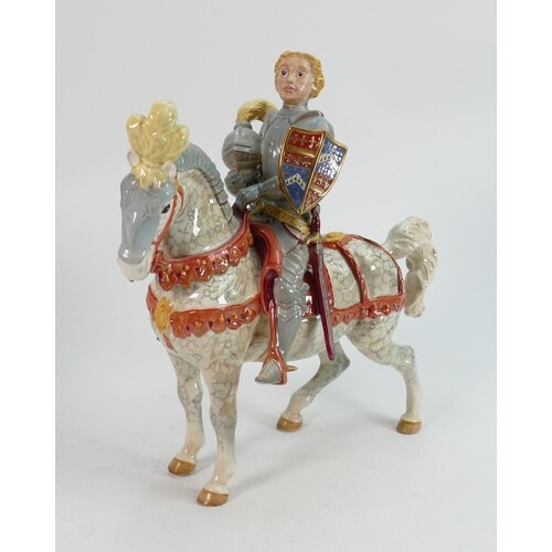 Beswick knight in armour 1145 : on dappled grey horse: the e...