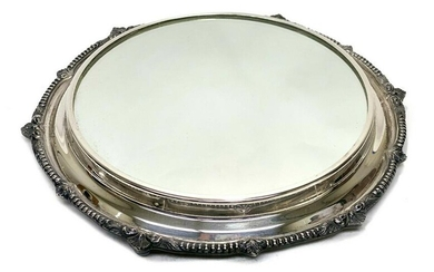 Continental Silver Plate Mirrored Plateau Tray