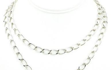 Crown Trifari Curb Link Costume Jewelry Necklace