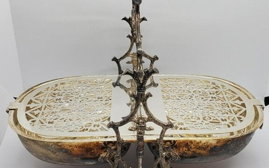 Early 20thc Silver Centerpiece/Condament Tray