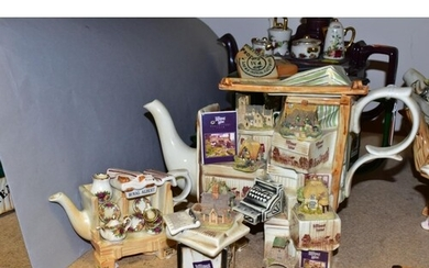 FOUR CARDEW DESIGNS COLLECTORS TEAPOTS AND A NOVELTY SUGAR B...