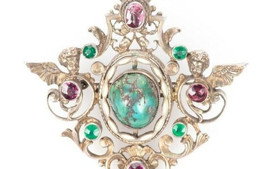 FREE POST 935 Silver - Austro-Hungarian Brooch