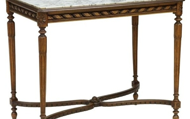 FRENCH LOUIS XVI STYLE MARBLE-TOP TABLE