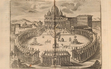 LEONE (Pietro) (Ed.). The wonders of the city of Rome, where is treated the churches, stations, relics of the holy bodies With the guide corrected and amplified In Rome, at Bernabo, 1725. In-8, [4] f. (including one blank and the frontispiece), 216...