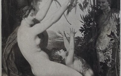Lefebvre, Nymph and Bacchus, engraving Goupil 1881