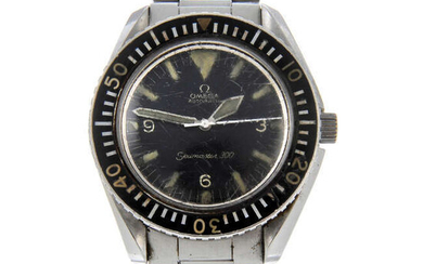 OMEGA - a gentleman's stainless steel Seamaster 300 'Big Triangle' bracelet watch.