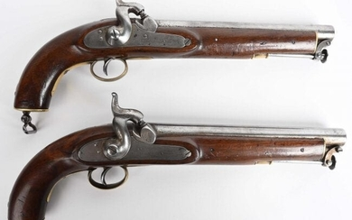 PAIR OF POTTS & HUNT ENGLISH BELT PISTOLS