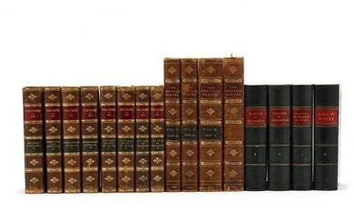 Three Partial Book Sets Consisting of Sixteen Antique