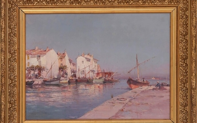 View of Martigues Oil on canvas, unsigned 49 x 65...