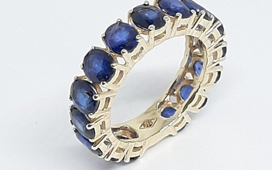 18 kt. Yellow gold - Ring - 6.00 ct Sapphires