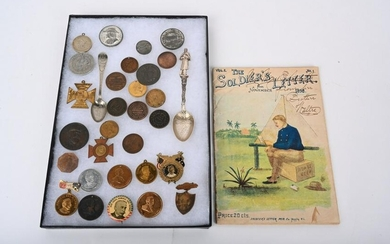 32 ADMIRAL DEWEY BADGES TOKENS * HARD TIMES & MORE