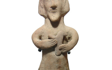 A Cypriot terracotta figure of a bearded man