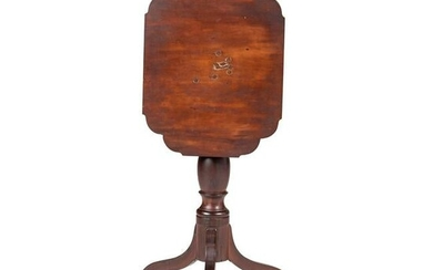 A Federal Cherrywood Table Top Candle Stand