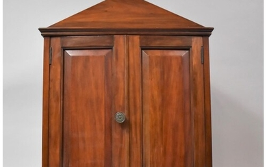 A Mahogany Cased Country House Style Shelved Cabinet of Arch...